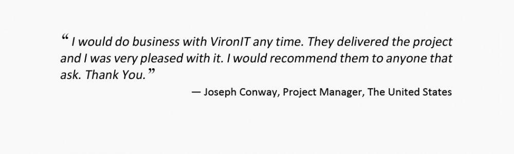 VironIT testimonials