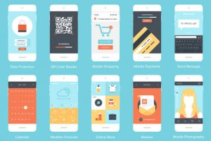 flat-mobile-app-designs