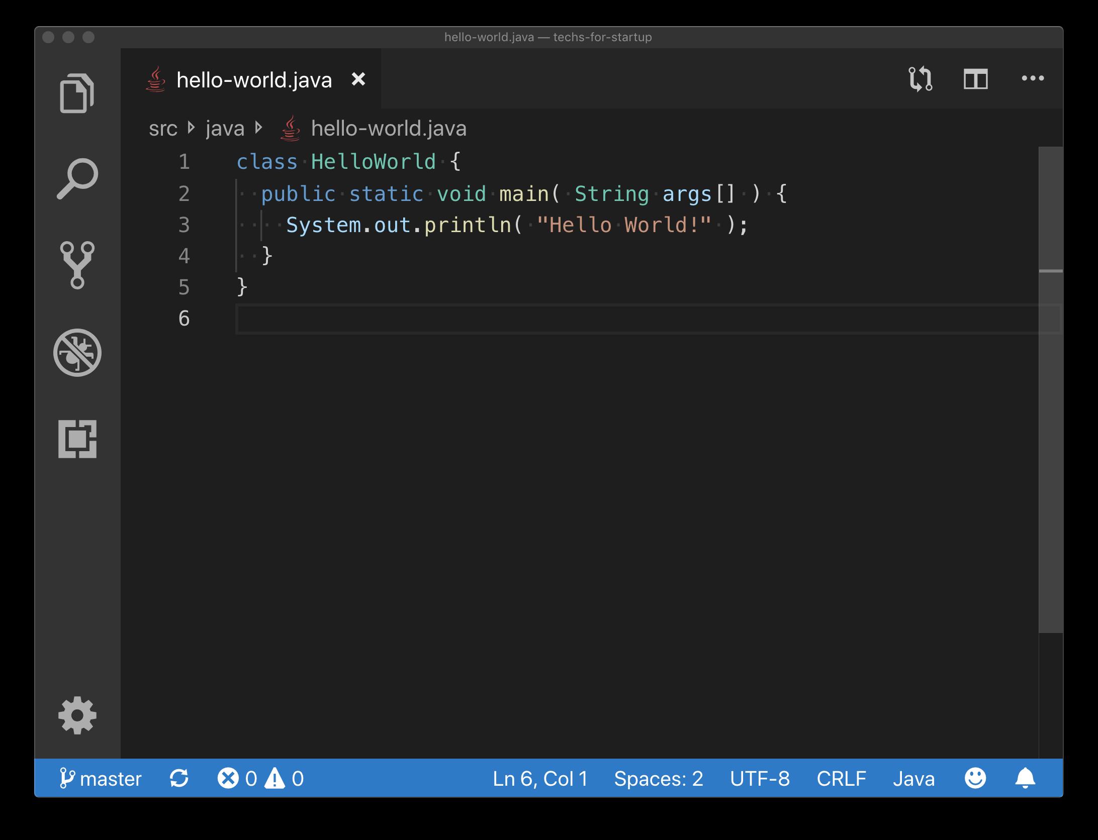 Java Hello World Example