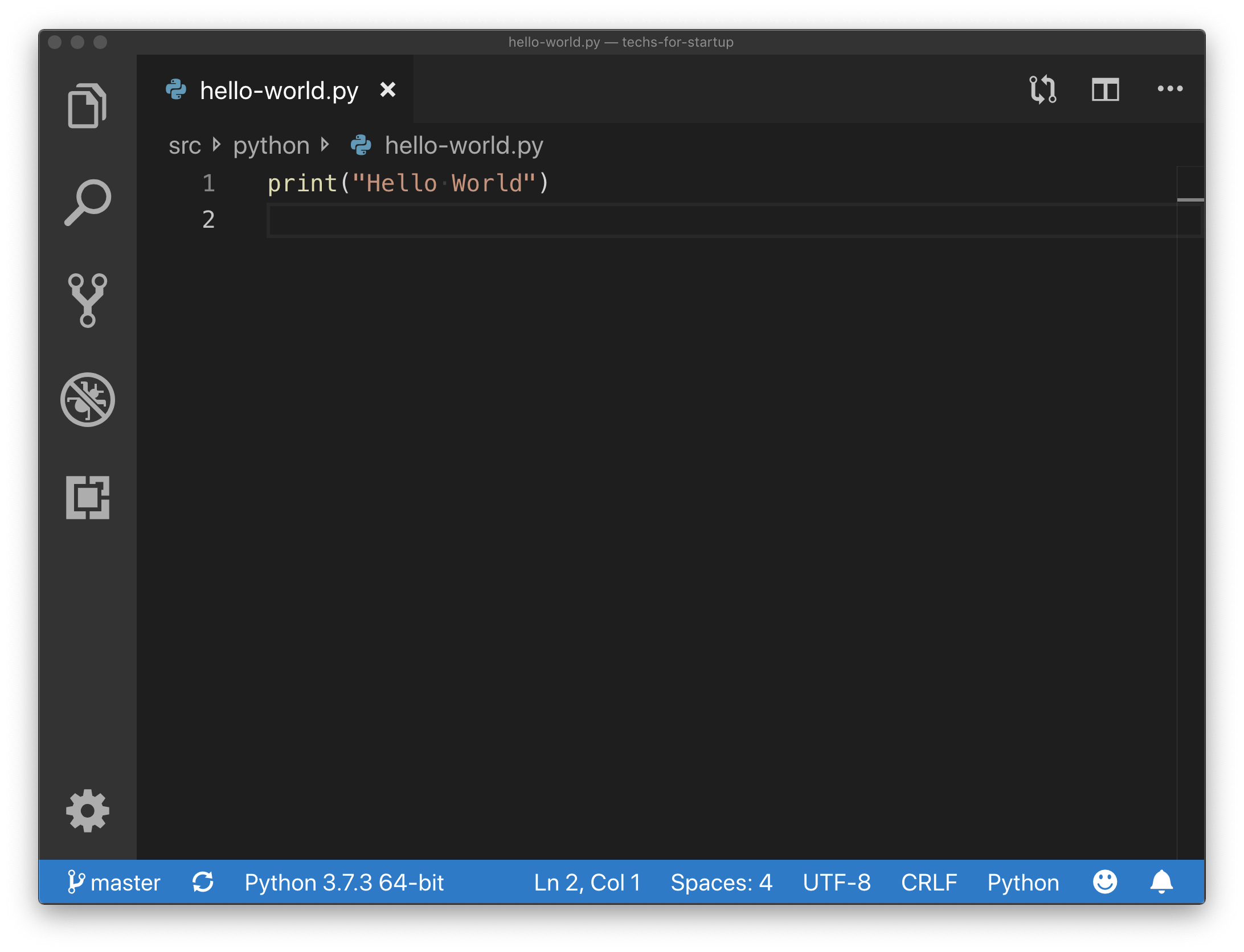 Python Hello World Example