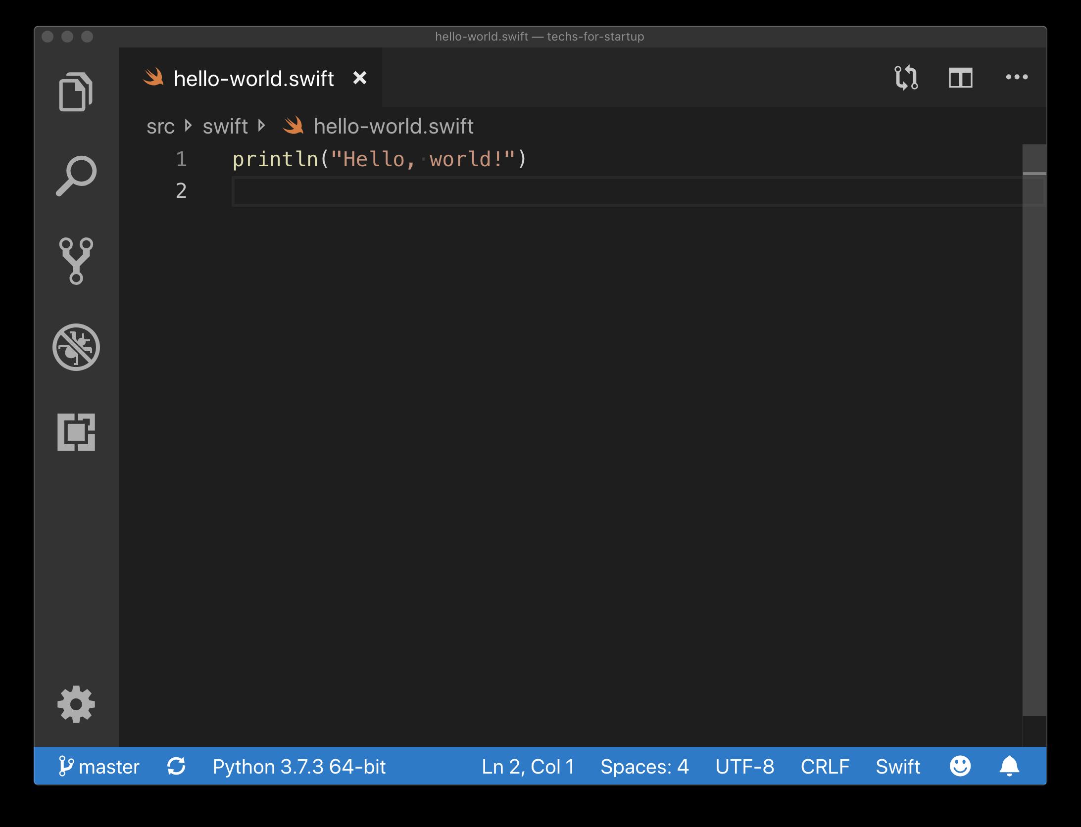 Swift Hello World Example
