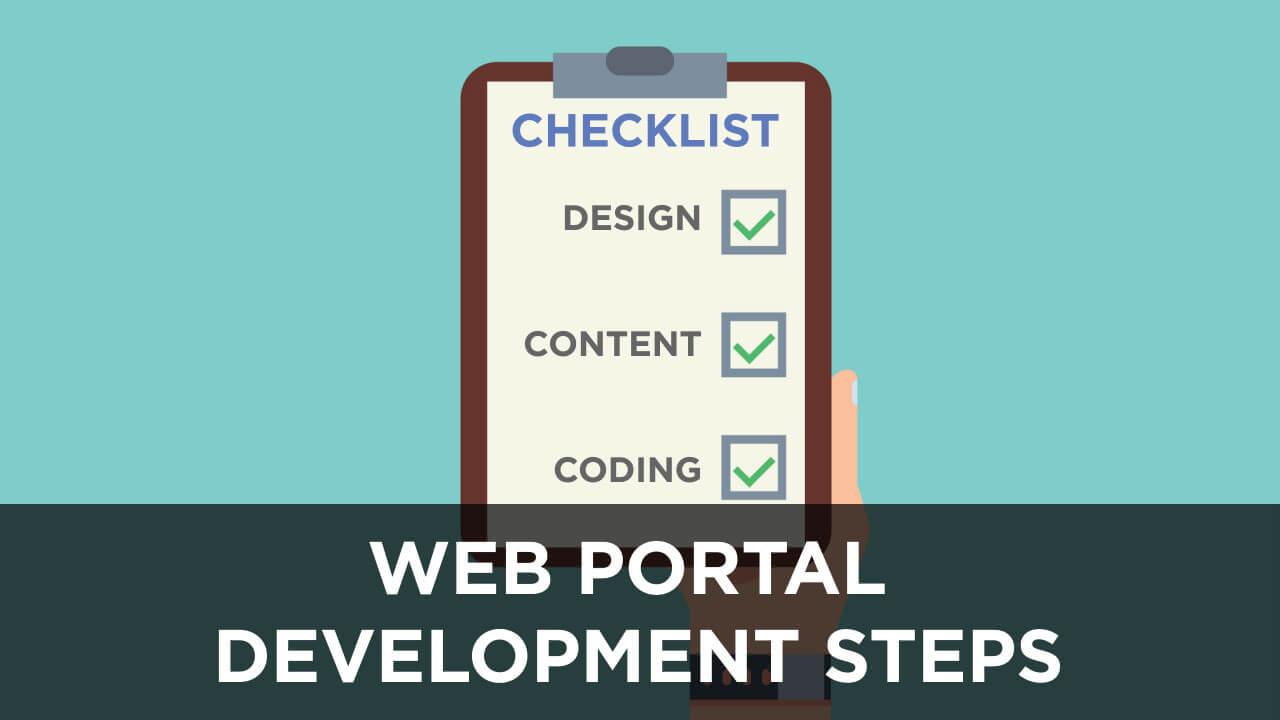 Web Portal Development Steps Cover