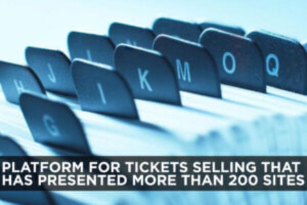 Platform for tickets selling that has presented more than 200 sites