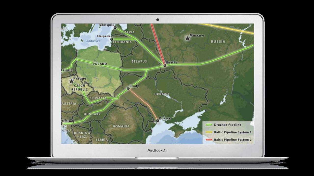 Oil leakage program - map
