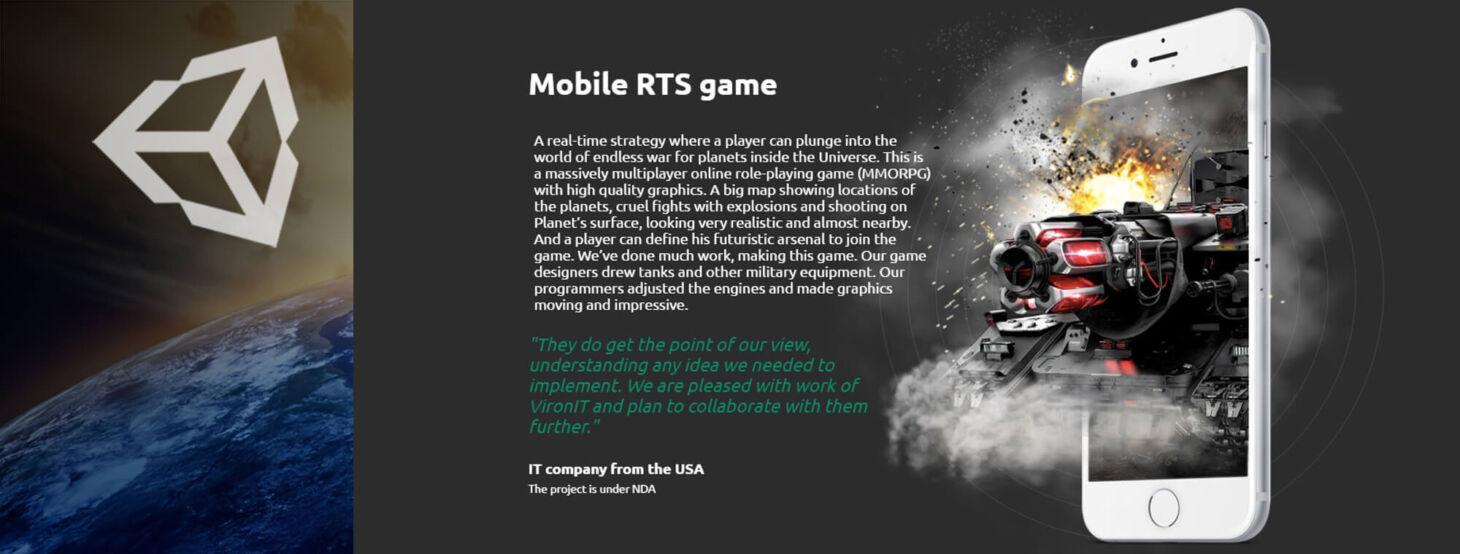 Mobile RTS game