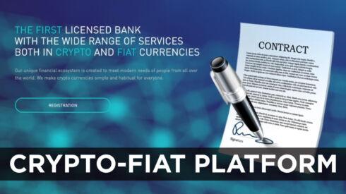 Crypto-fiat platform