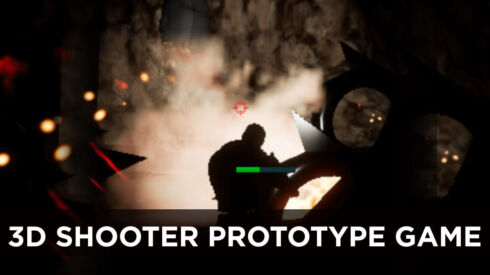 3D shooter prototype game