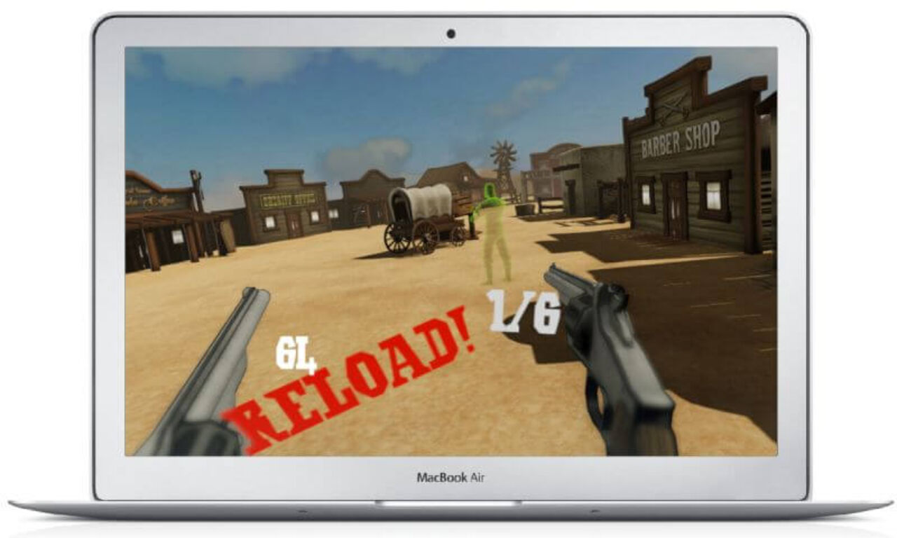 Wild West VR - shooting enemy