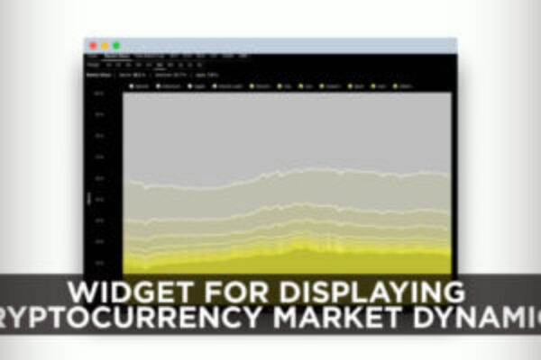 Widget for displaying cryptocurrency market dynamics