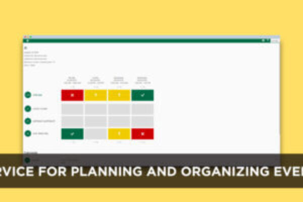 Service for planning and organizing events