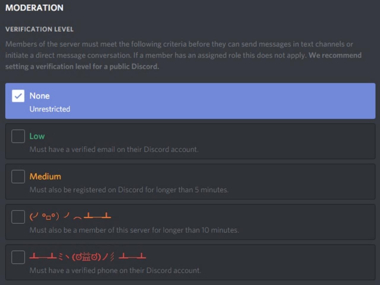 verification-levels