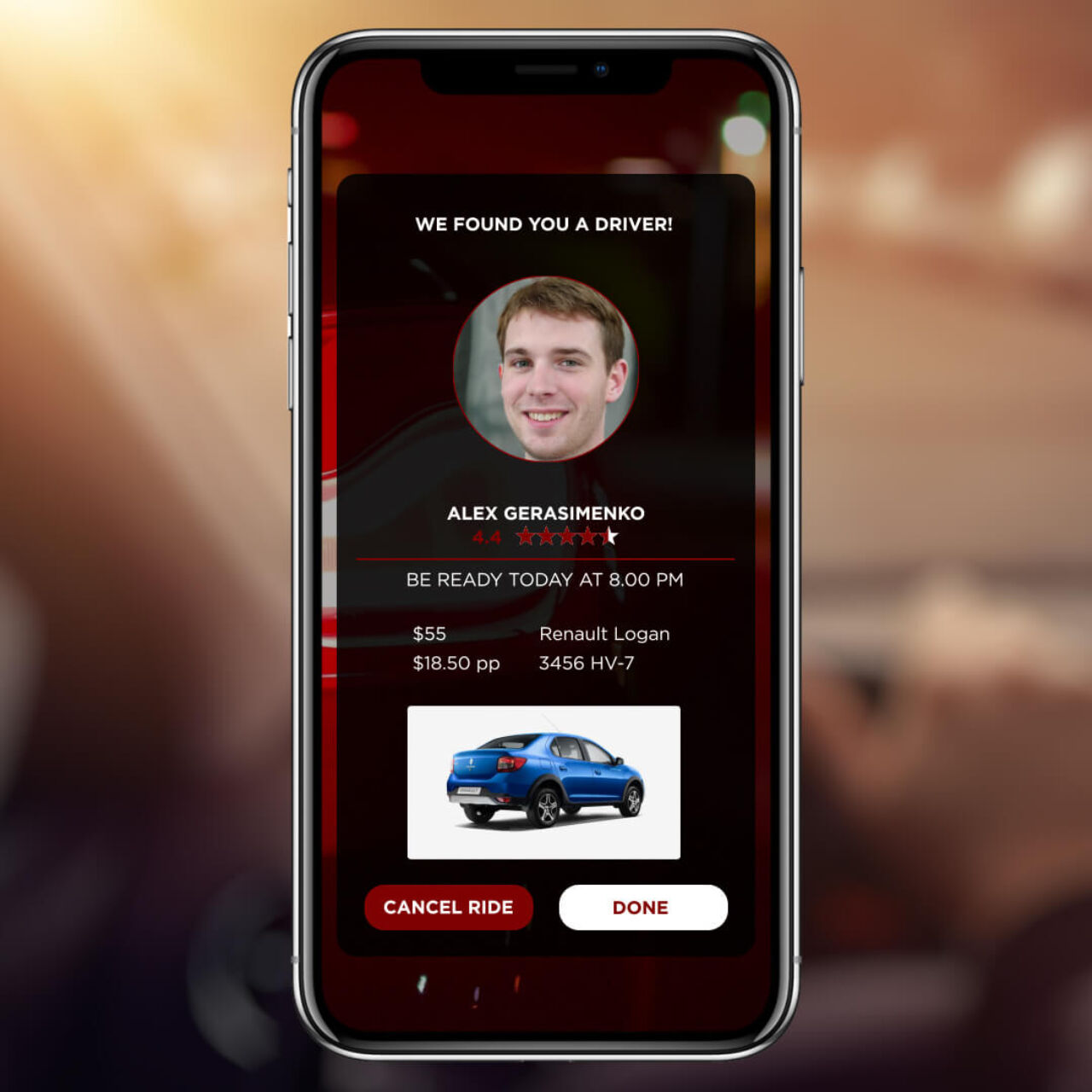 Ride App - Found a driver