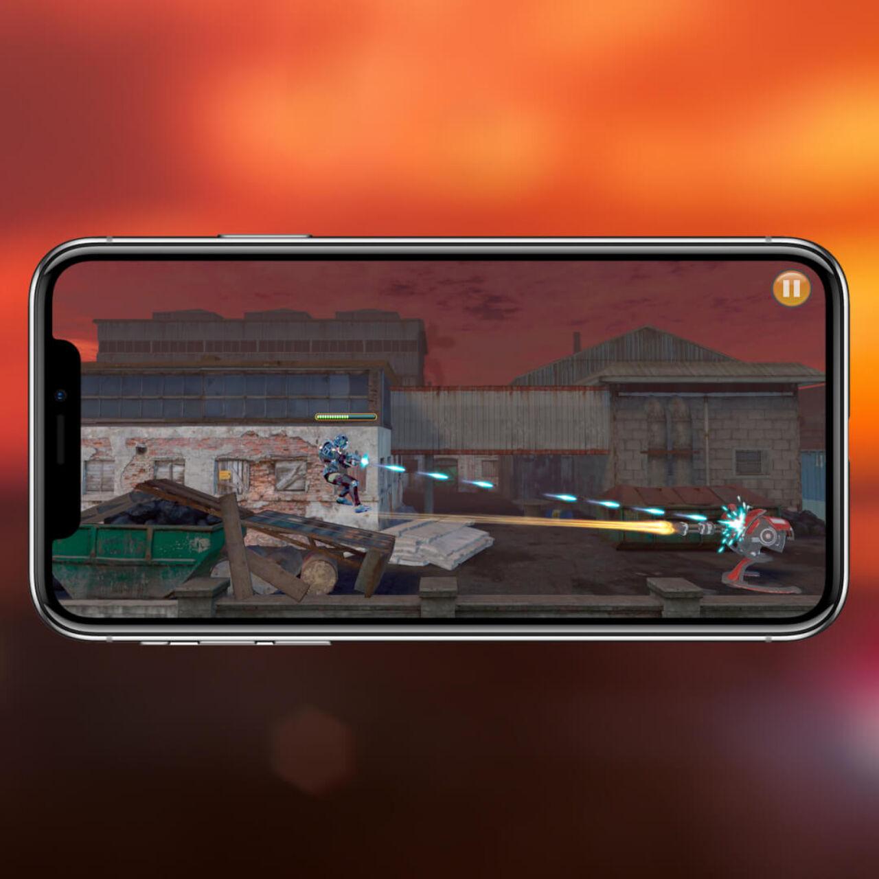 UPMan - Gameplay - shooting in object