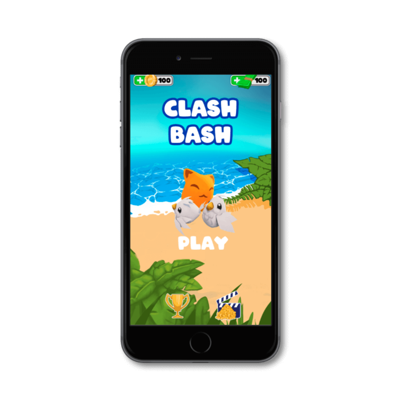 Clash In Shapes - starting screen