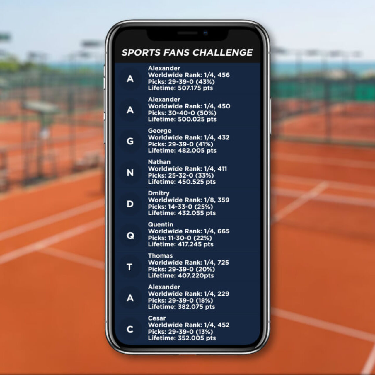 Sports Fans Challenge App 1