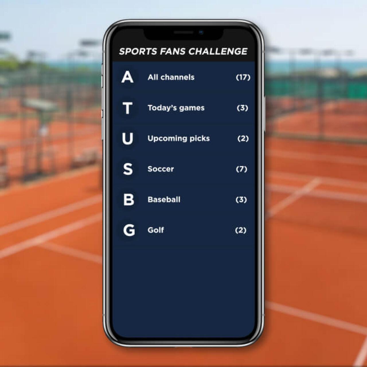 Sports Fans Challenge App 2