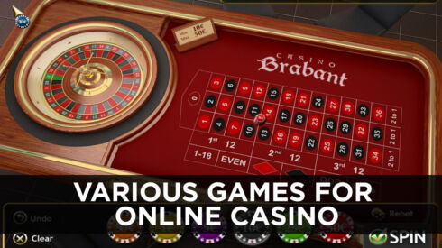 Various games for online casino