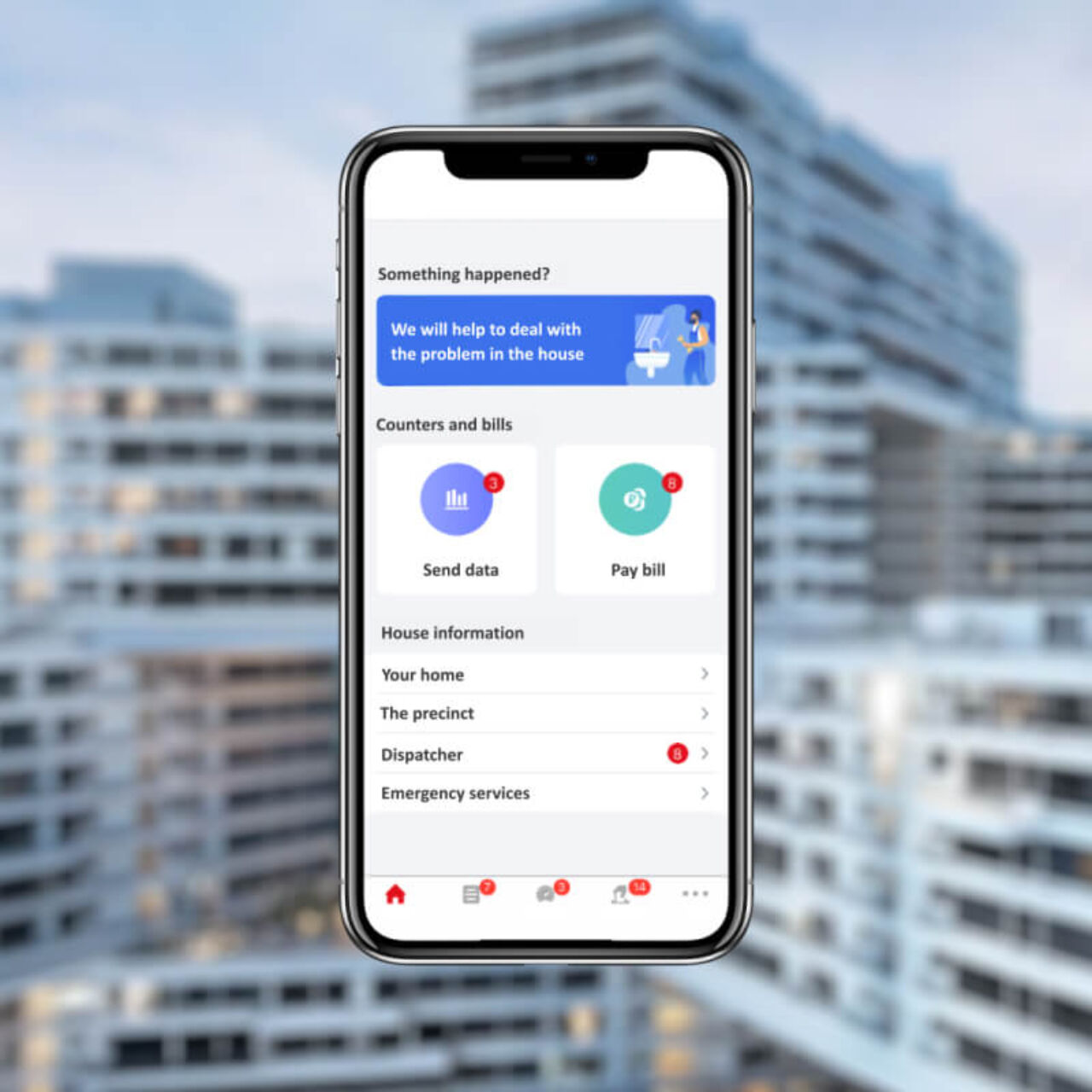 Smart Home App - home page
