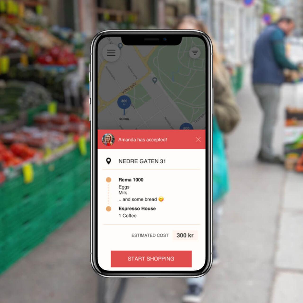 Norwegian Delivery Service App - Order