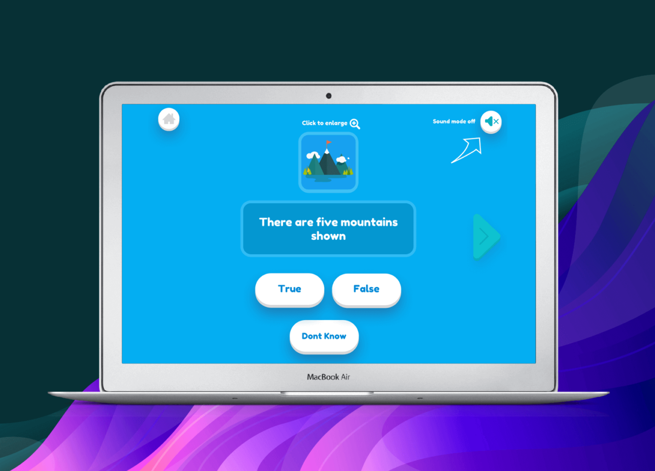 Educational App for Kids - Answer the questions