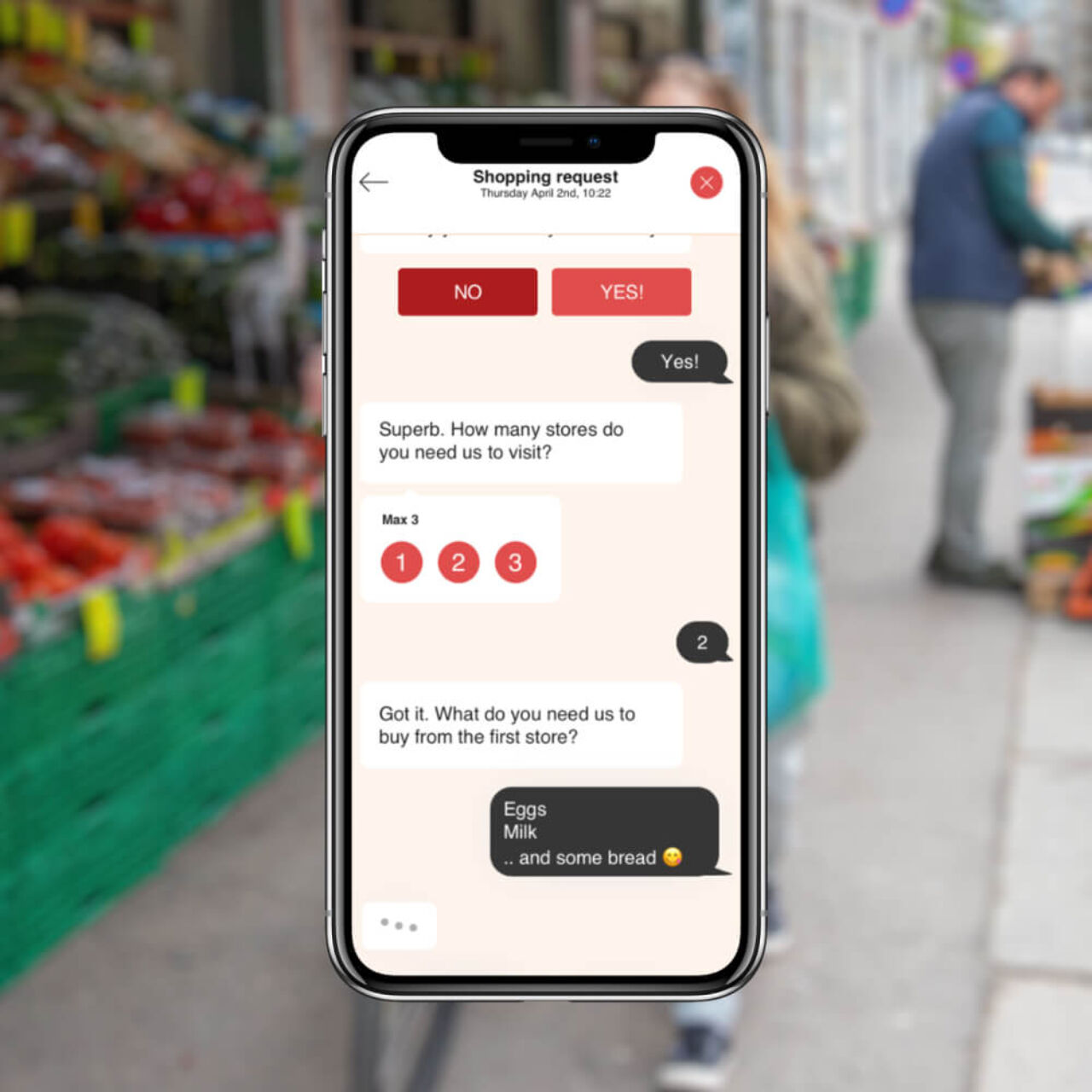 Norwegian Delivery Service App - Shopping request