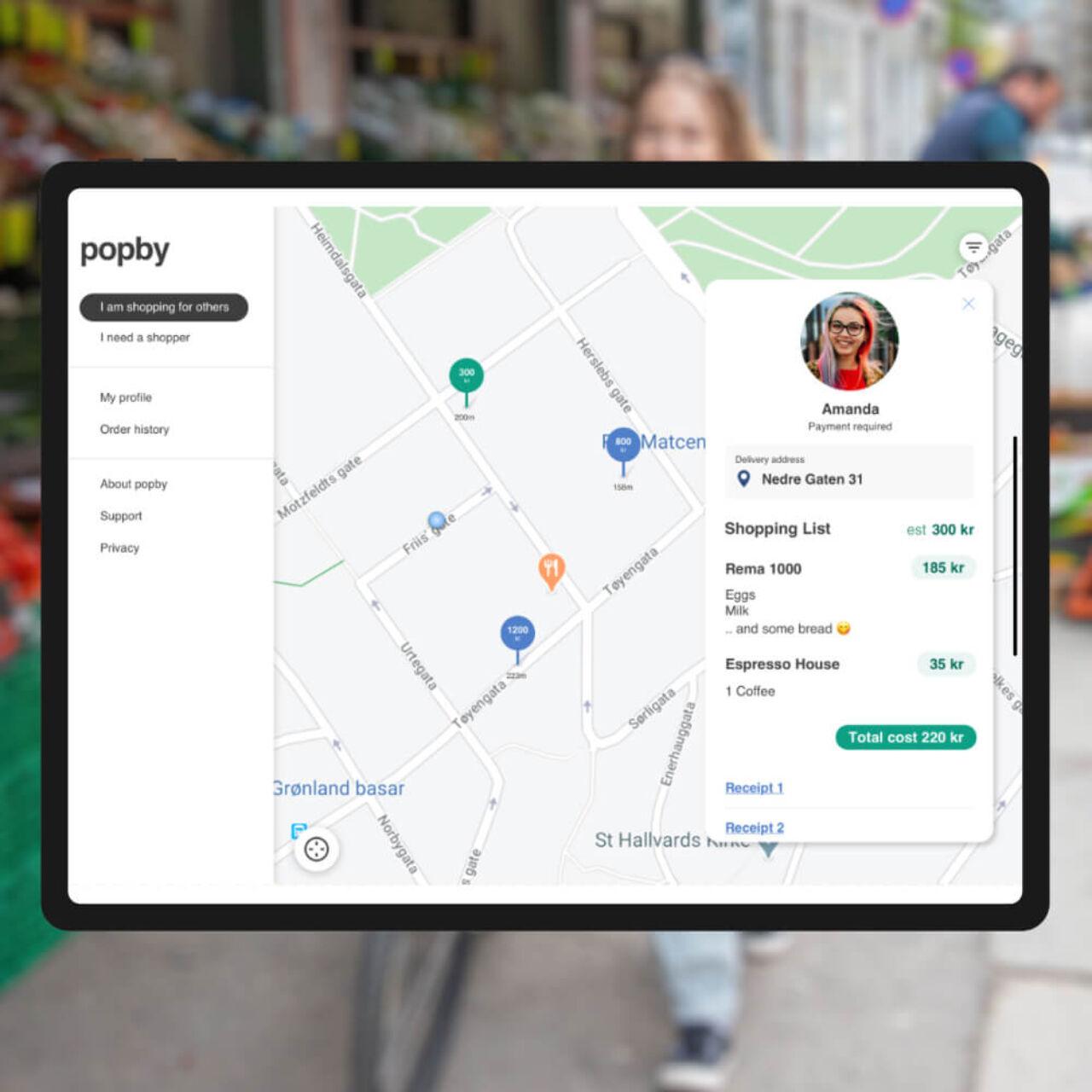 Norwegian Delivery Service App - Map