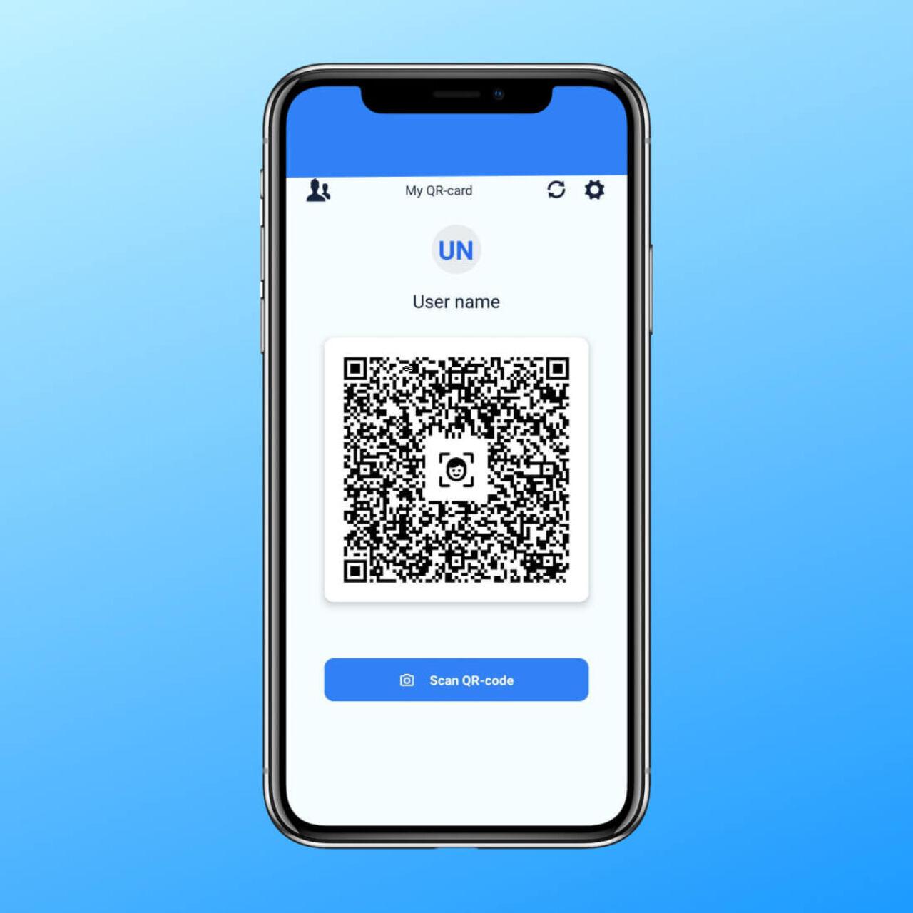 Business card scanner app - QR-code