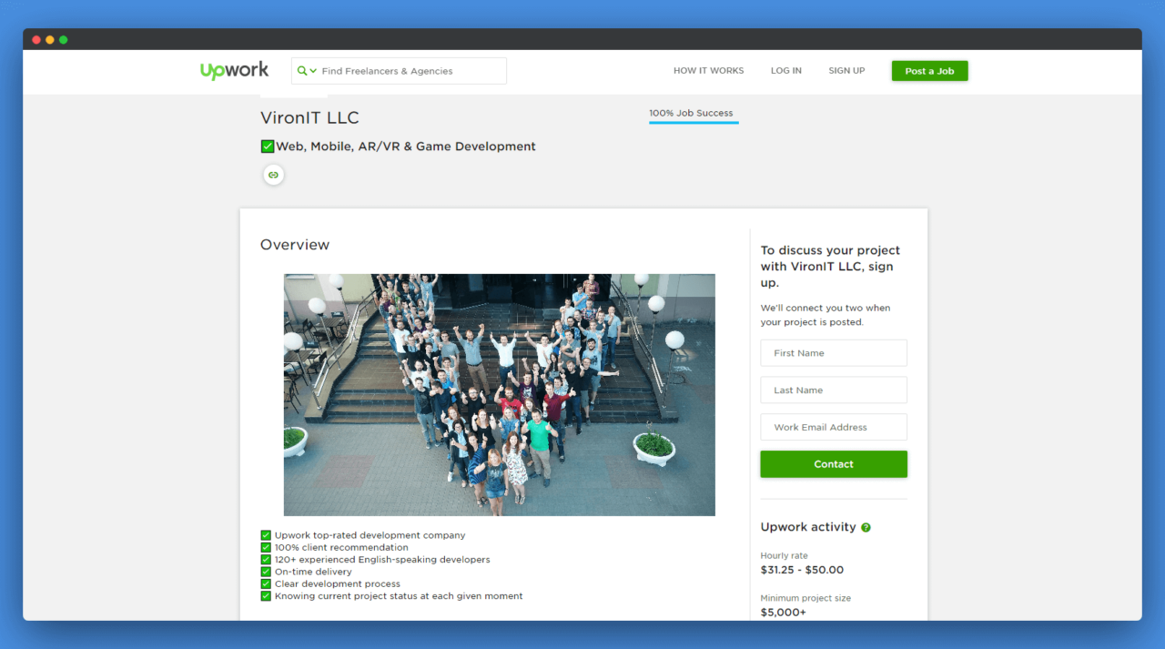 upwork page