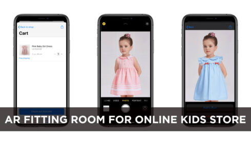 AR Fitting Room For Online Kids Store
