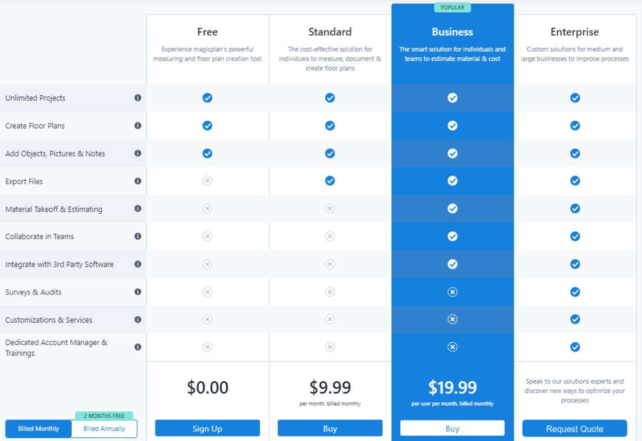Magic Plan App Subscriptions