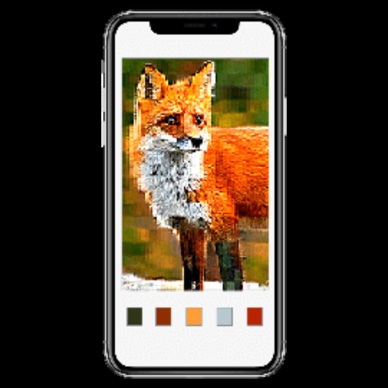 Coloring book app - fox