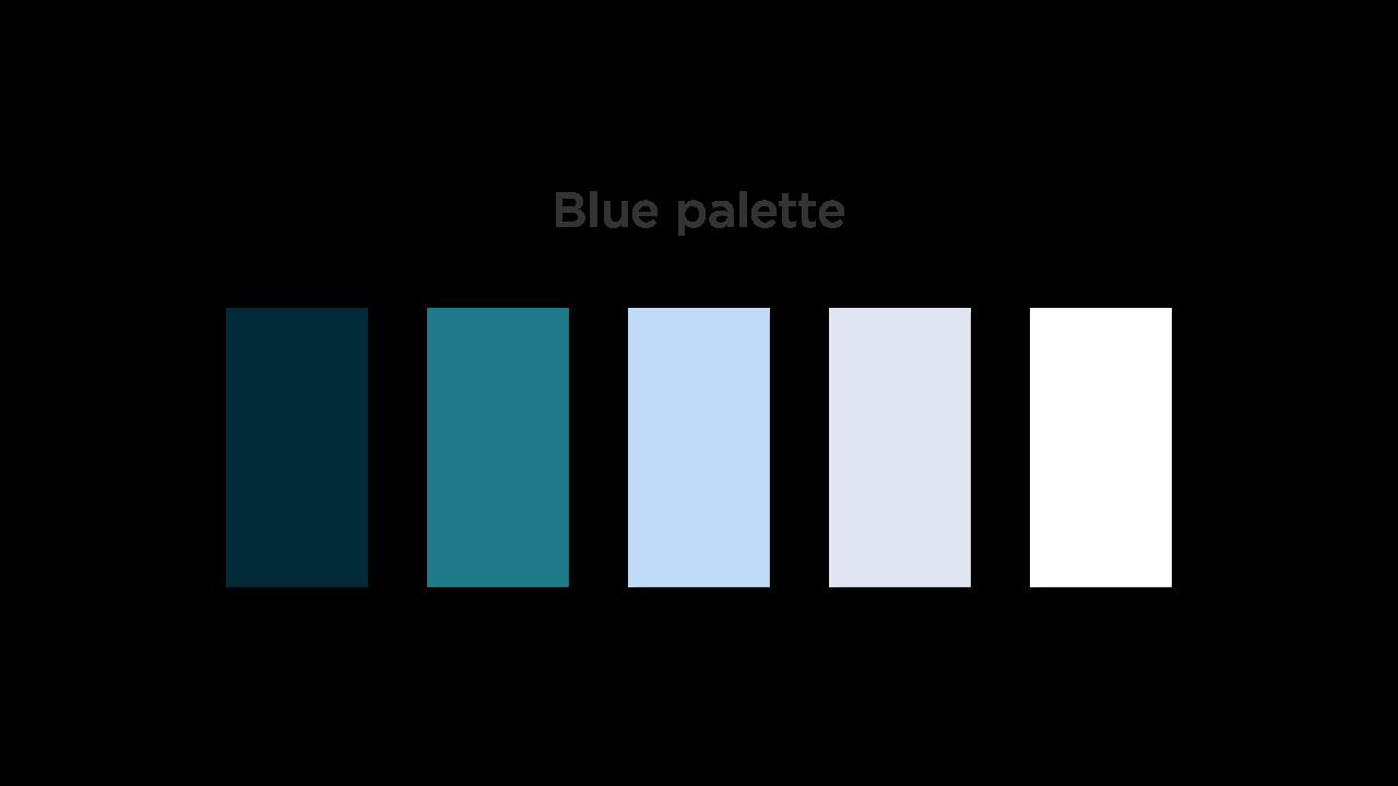 Blue Color Palette for Medical App UI