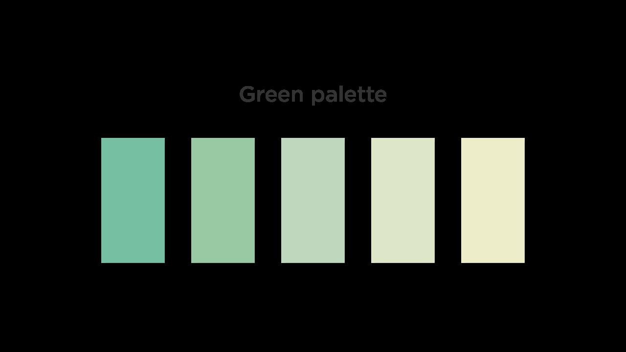 Green Color Palette for Medical App UI