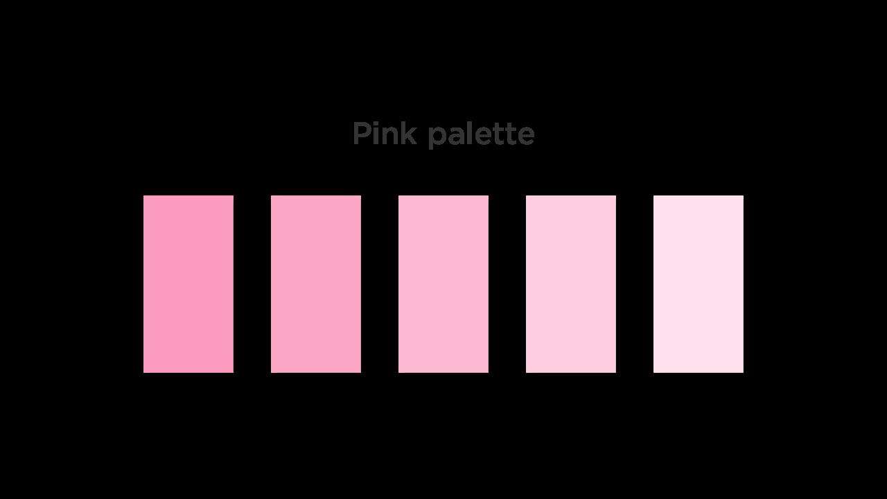 Pink Color Palette for Medical App UI