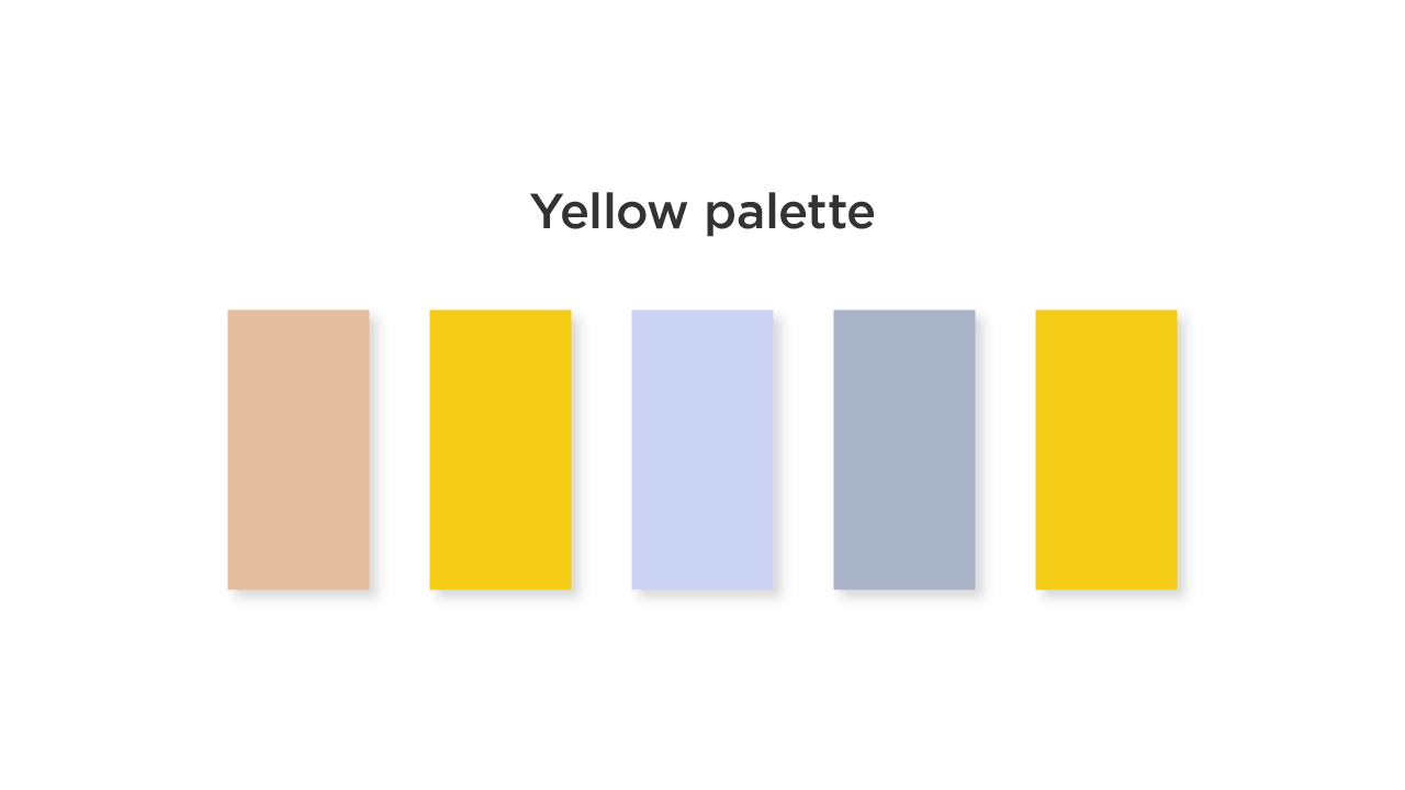 Yellow Color Palette for Medical App UI