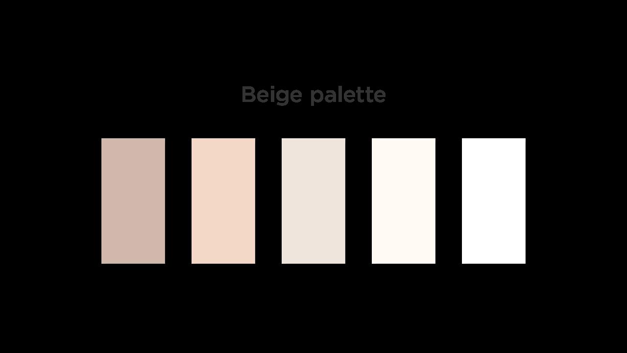 Beige Color Palette for Medical App UI
