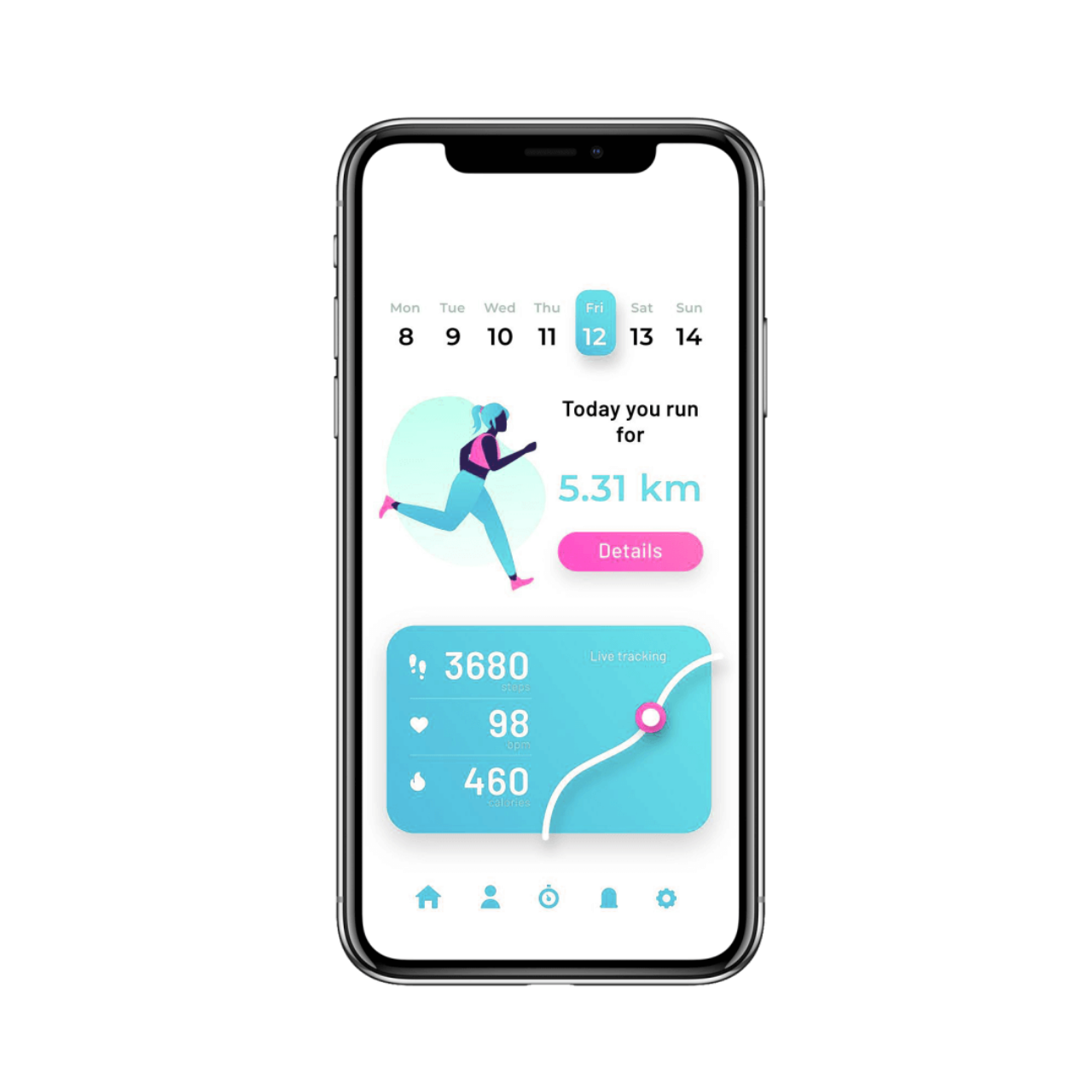 Diet and nutrition app development - daily information