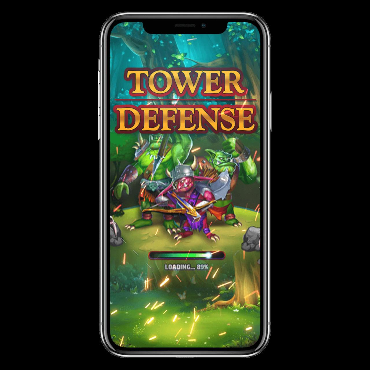 Tower Defense Game development logo