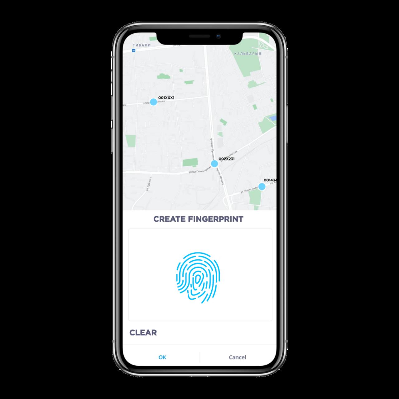 Fleet Management App development - fingerprint