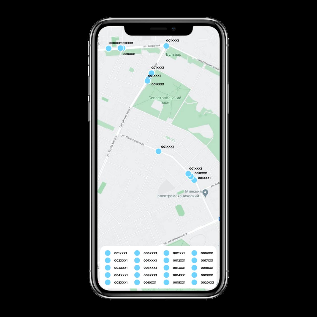 Fleet Management App development - map